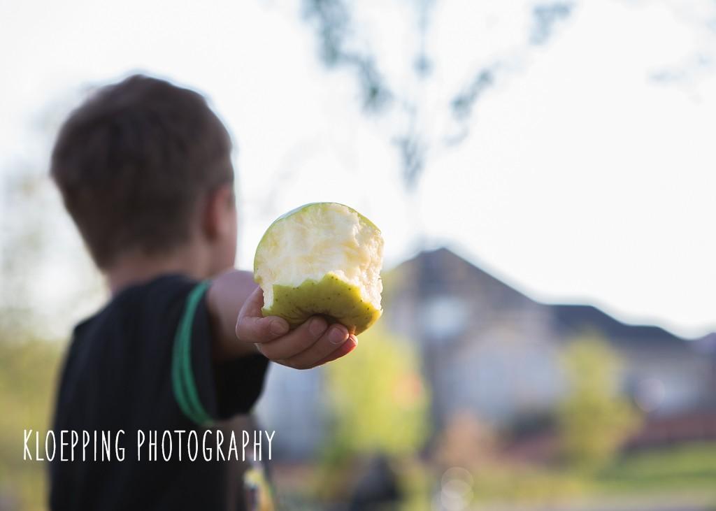 a yellow apple