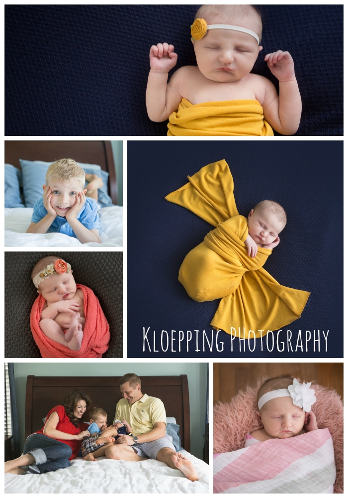 beautiful newborn collage