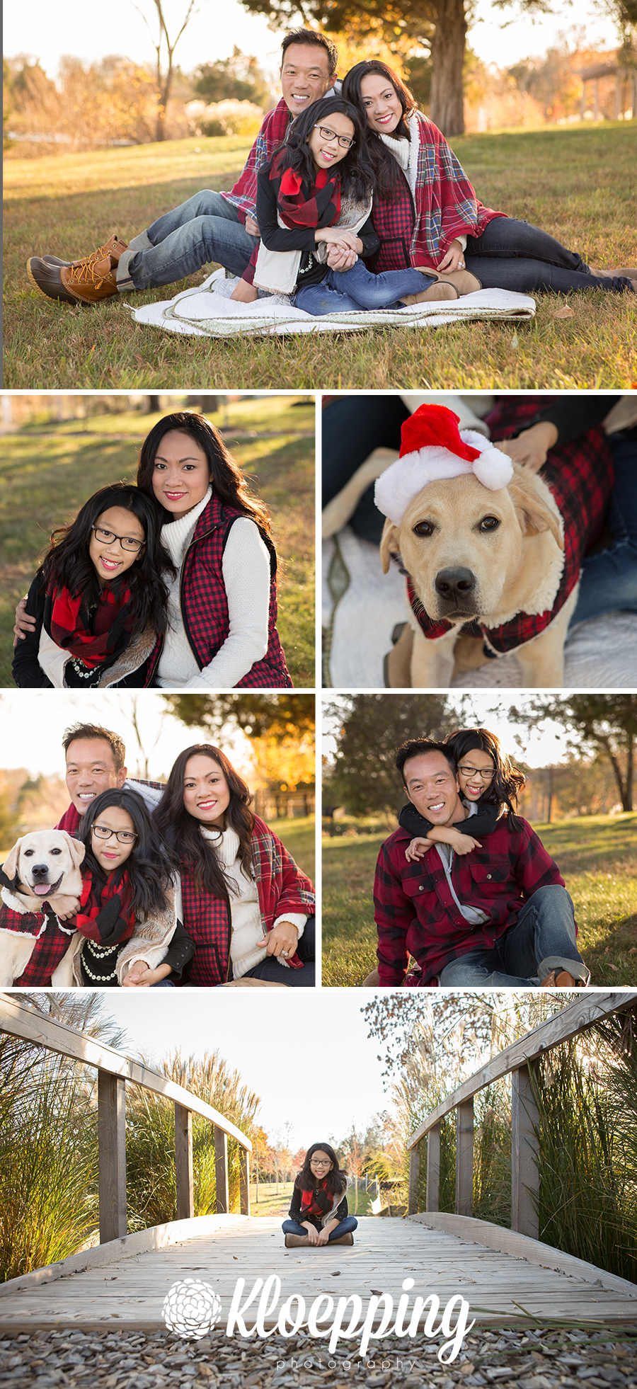 lakeside fall family photos in Ashburn